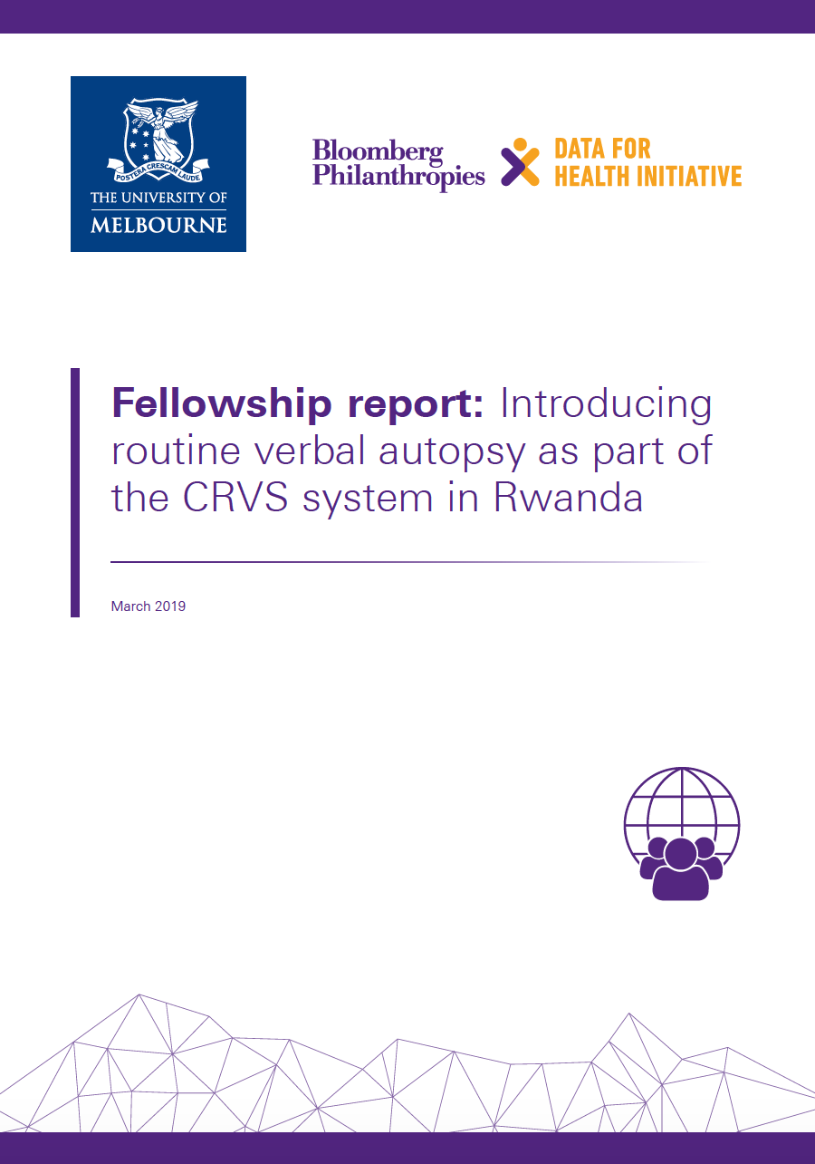 Fellowship report: Introducing routine verbal autopsy as part of the CRVS system in Rwanda thumbnail