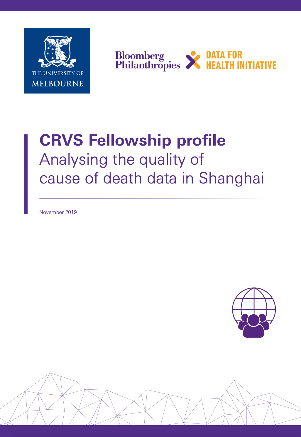 CRVS Fellowship profile Analysing the quality of cause of death data in Shanghai thumbnail