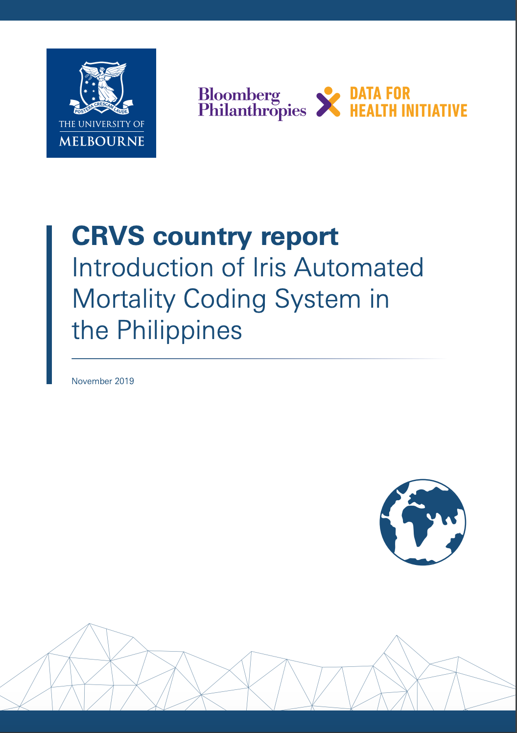 CRVS country report Introduction of Iris Automated Mortality Coding System in the Philippines thumbnail