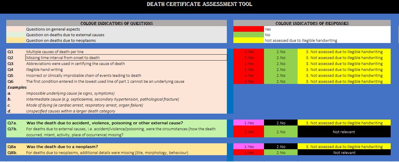 Death Certificate Assessment Tool (Excel version) thumbnail