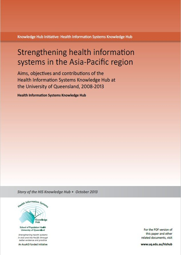 Strengthening health information systems in the Asia-Pacific region thumbnail