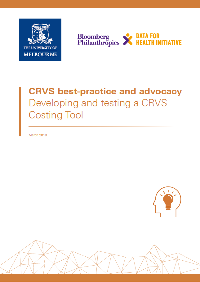 CRVS innovations: Developing and testing a CRVS Costing Tool thumbnail
