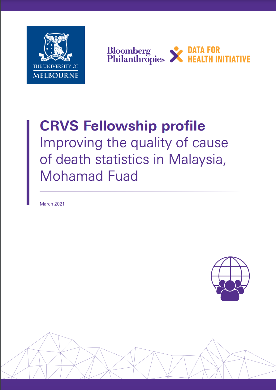 CRVS Fellowship profile Improving the quality of cause of death statistics in Malaysia, Mohamad Fuad thumbnail