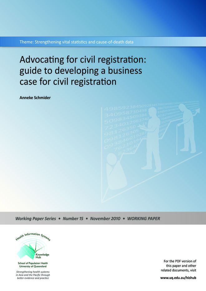 Advocating for civil registration: guide to developing a business case for civil registration thumbnail