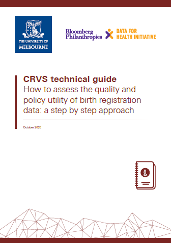 Thumbnail image for birth registration data quality assessment CRVS technical guide