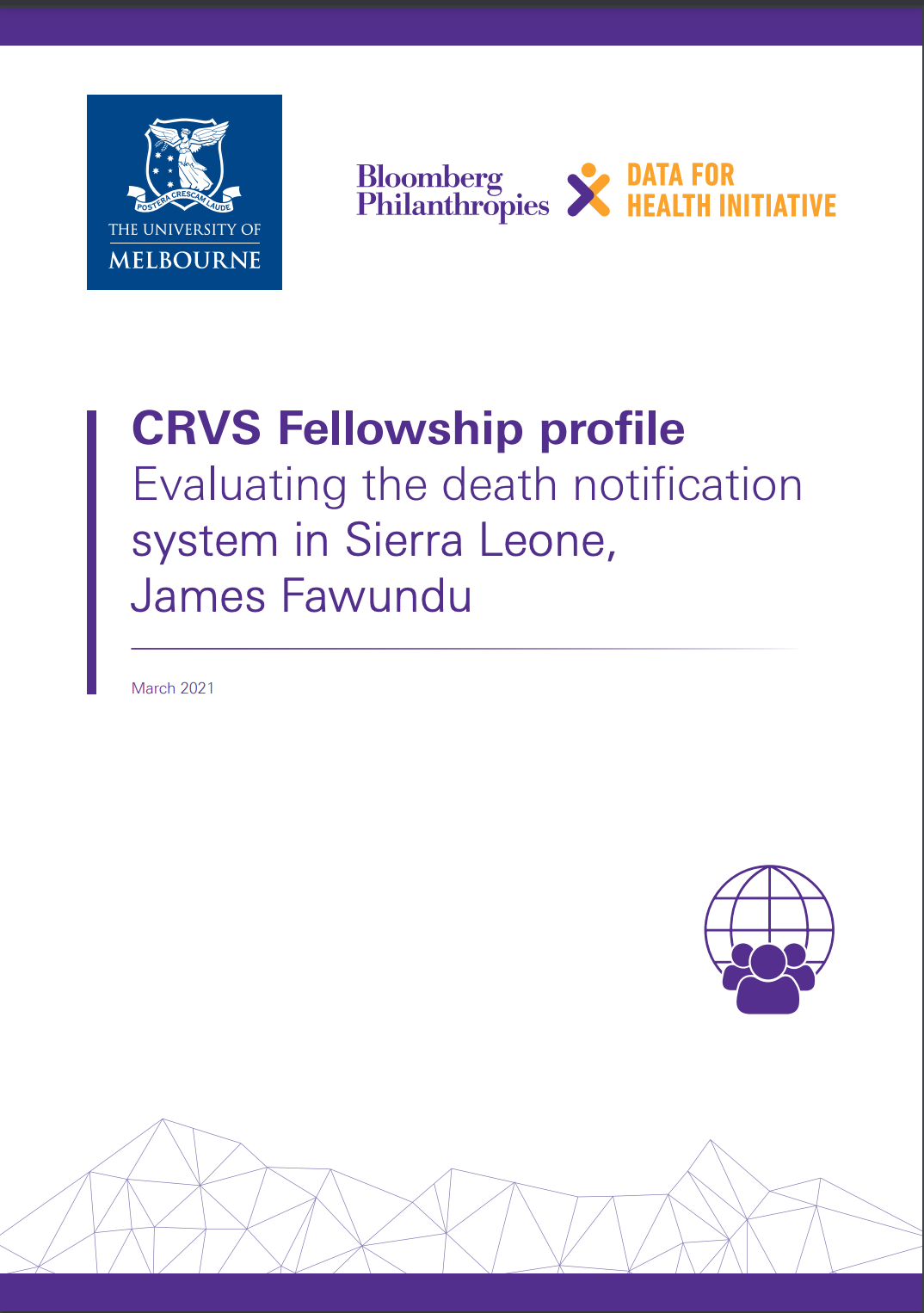 CRVS Fellowship profile Evaluating the death notification system in Sierra Leone, James Fawundu thumbnail