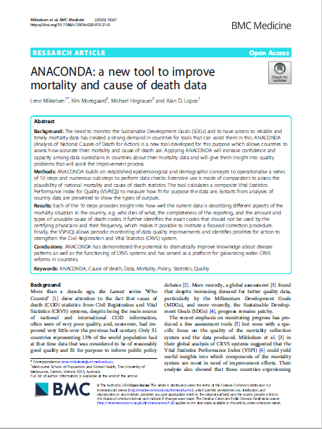 ANACONDA: a new tool to improve mortality and cause of death data thumbnail