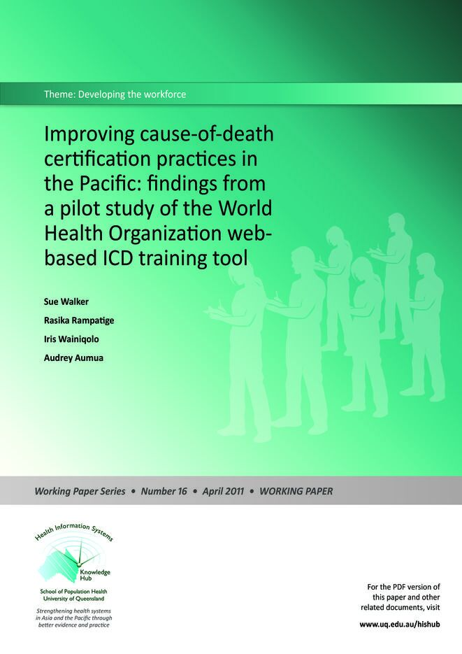 Improving COD certification practices in the Pacific