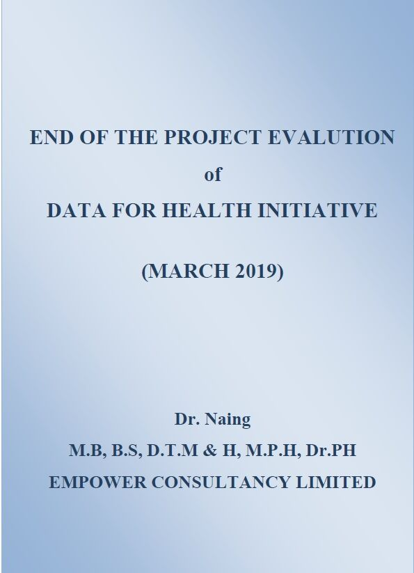 End of the project evaluation of Data for Health Initiative (Myanmar) thumbnail