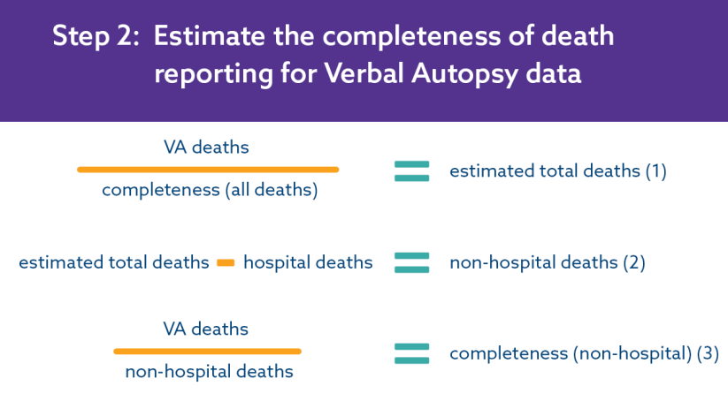 Step 2: Estimate the completeness of VA death reporting