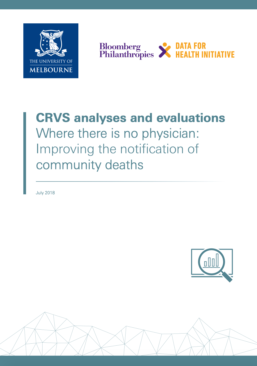 CRVS analyses and evaluations
