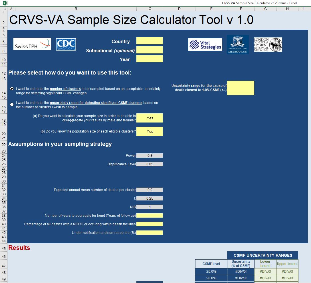 CRVS-VA sample size calculator tool thumbnail
