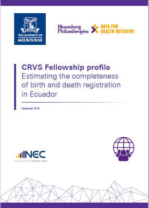 Fellowship profile: Estimating the completeness of birth and death registration in Ecuador thumbnail