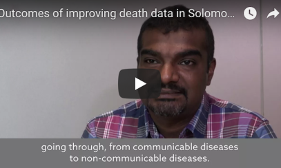 Outcomes of improving death data in Solomon Islands thumbnail