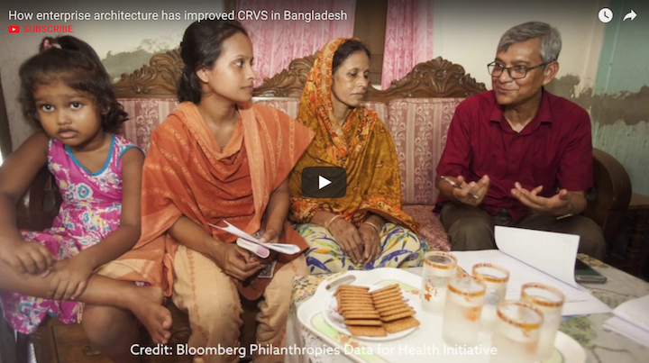 How enterprise architecture has improved CRVS in Bangladesh video