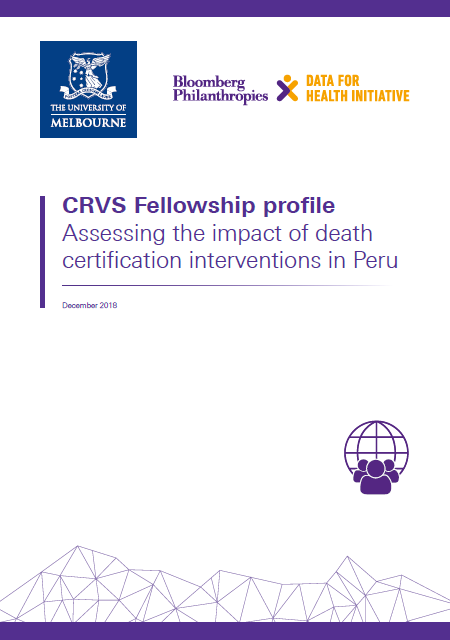 Fellowship profile: Assessing the impact of death certification interventions in Peru thumbnail