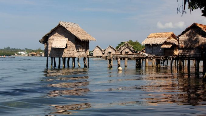 A village in the Solomon Islands