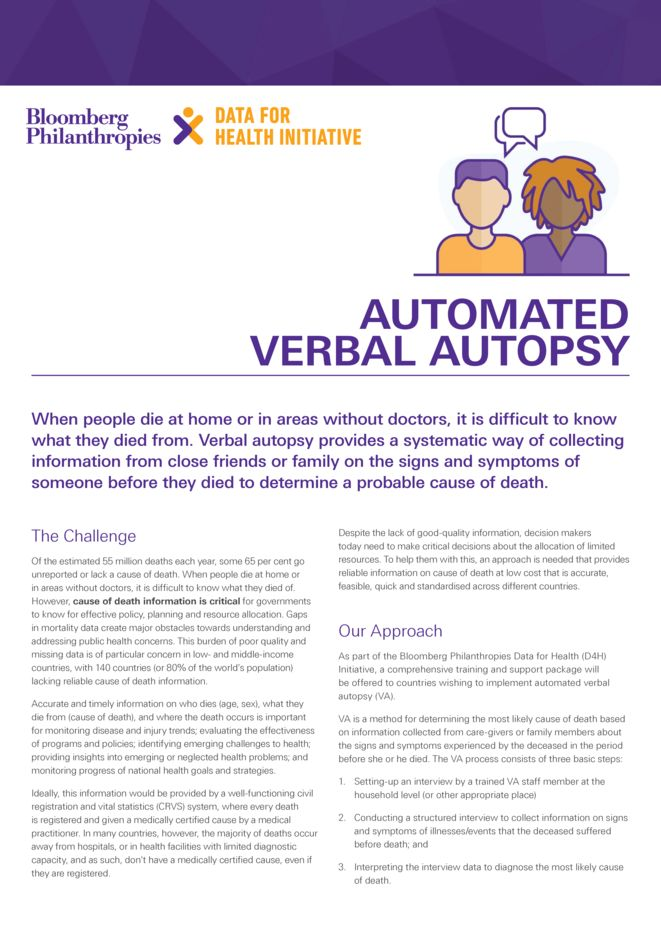 Automated verbal autopsy