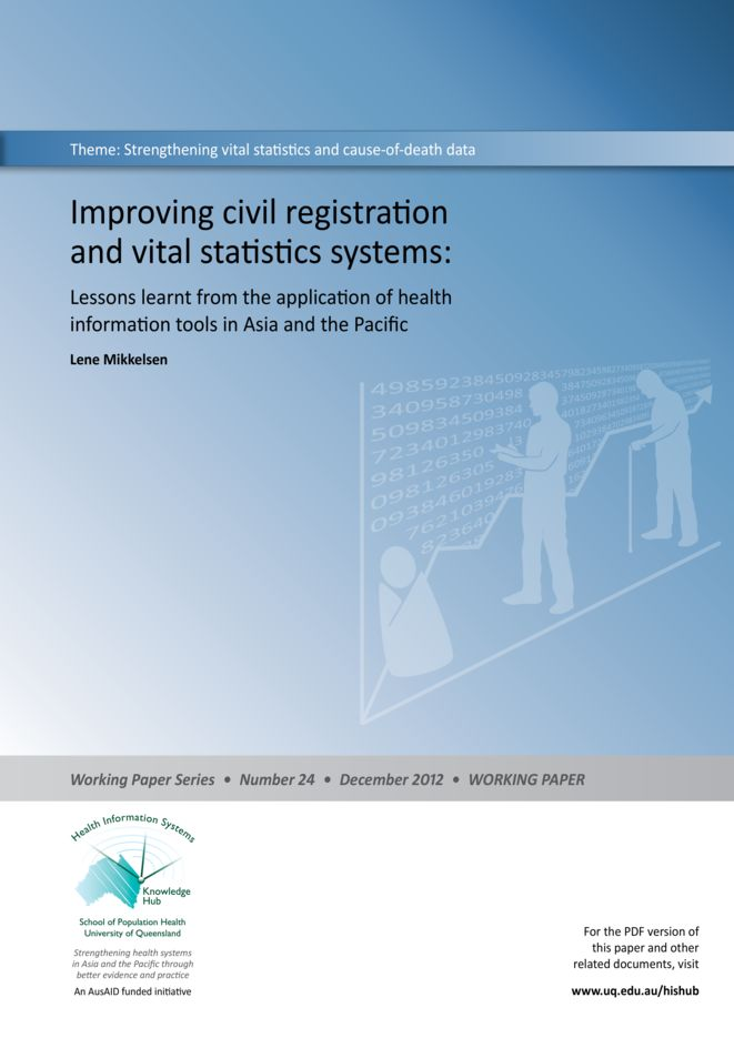 Improving civil registration and vital statistics systems-Lessons learned from the application of health information tools in Asia and the Pacific