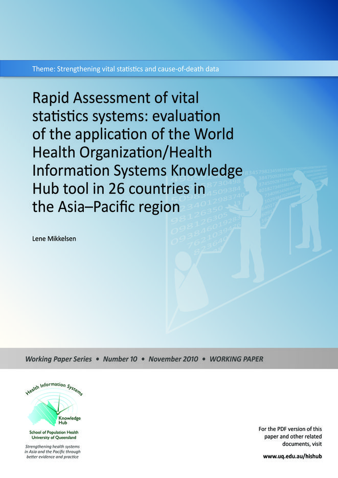 Rapid assessment of vital statistics systems
