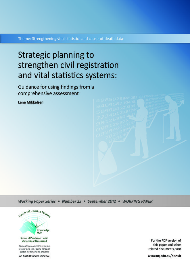 Strategic planning to strengthen civil registration and vital statistics systems
