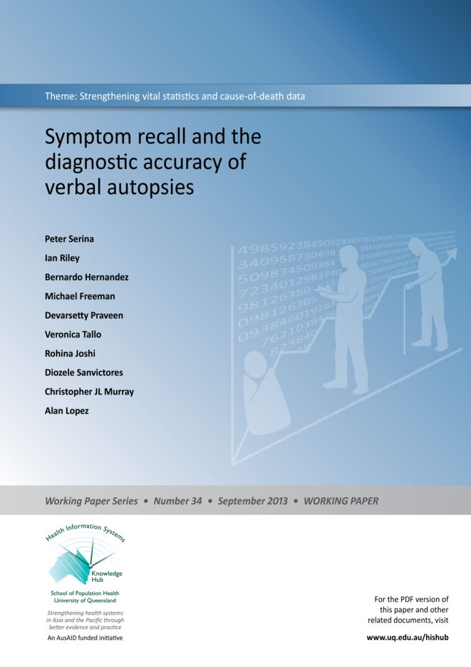Symptom recall and the diagnostic accuracy of verbal autopsies