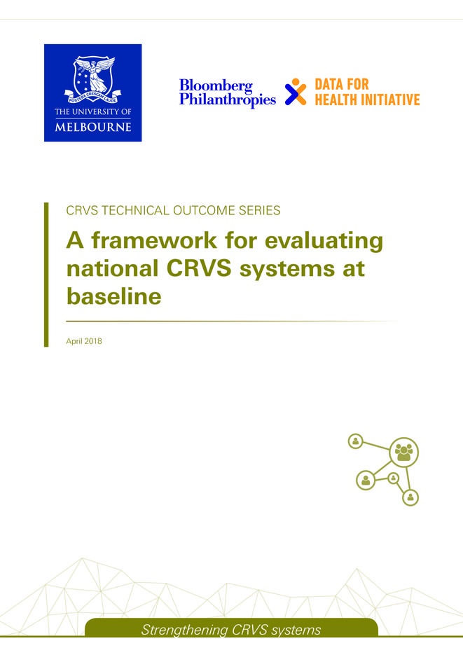 A framework for evaluating national CRVS systems at baseline