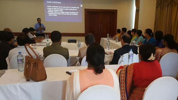 Dr Wijesekera trains participants from Bangladesh and Myanmar in morality coding.
