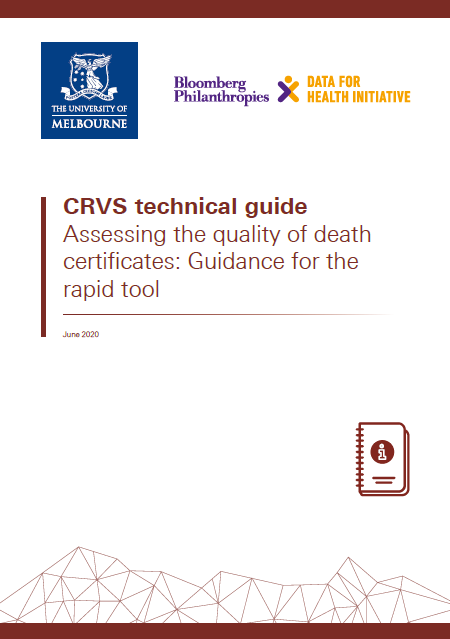 Assessing the quality of death certificates: Guidance for the rapid tool